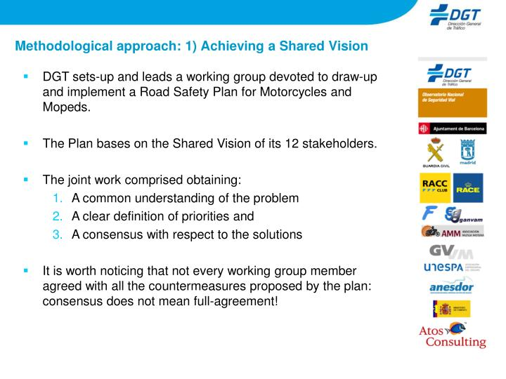 Methodological approach 1 achieving a shared vision