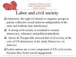 labor and civil society
