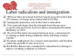 labor radicalism and immigration