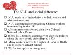 the nlu and social difference