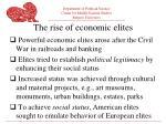 the rise of economic elites