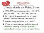 urbanization in the united states