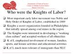who were the knights of labor