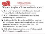 why did knights of labor decline in power