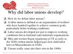 why did labor unions develop