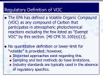 regulatory definition of voc