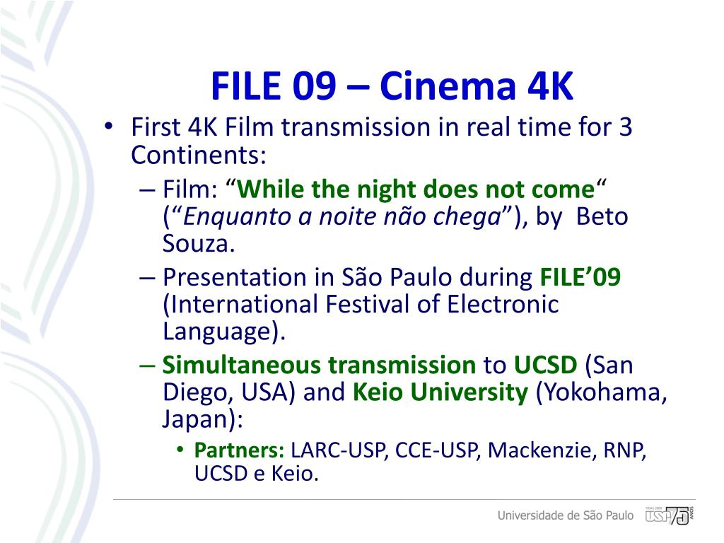 First 4K Film transmission in real time for 3 Continents: