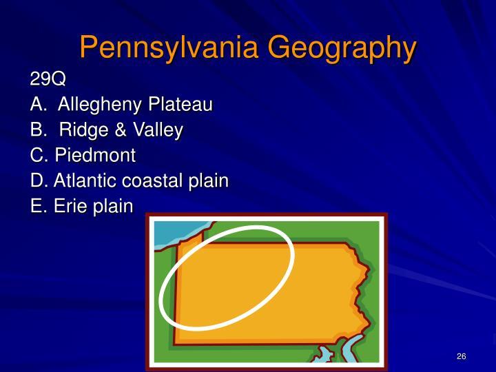 Pennsylvania Geography