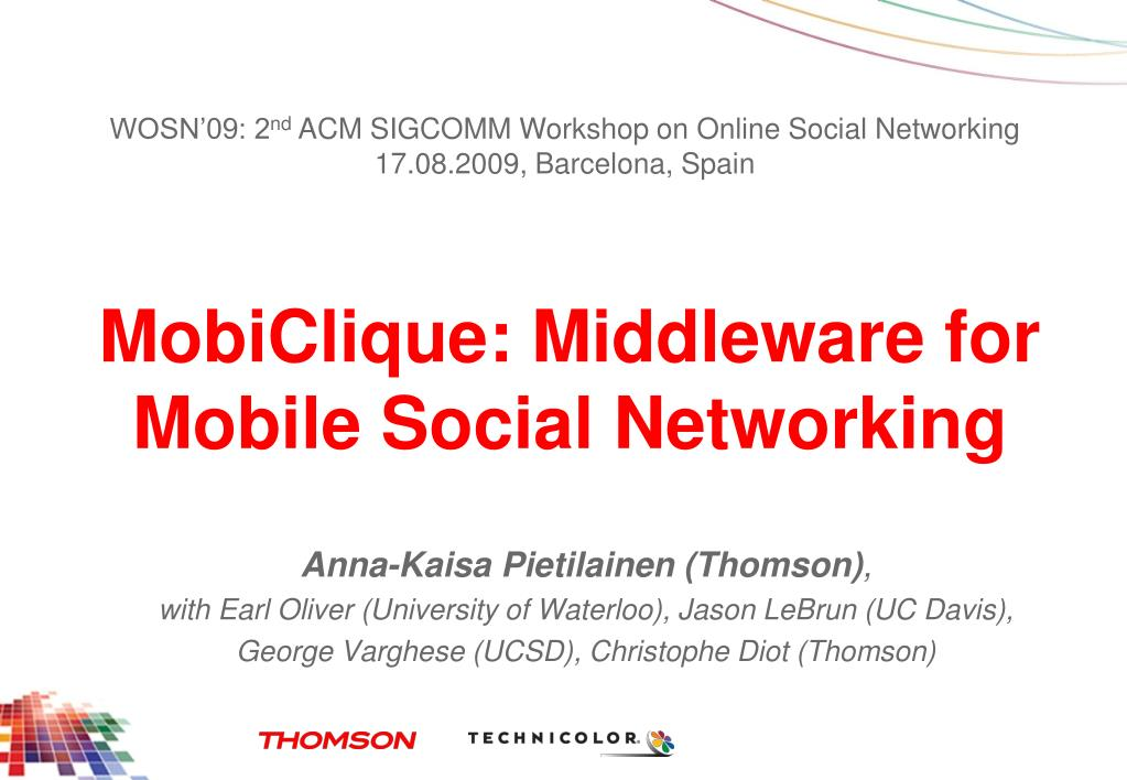 mobiclique middleware for mobile social networking