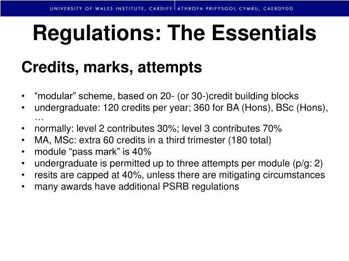 Regulations: The Essentials