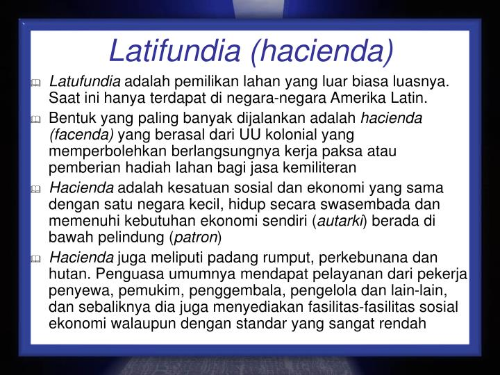 Latifundia (hacienda)