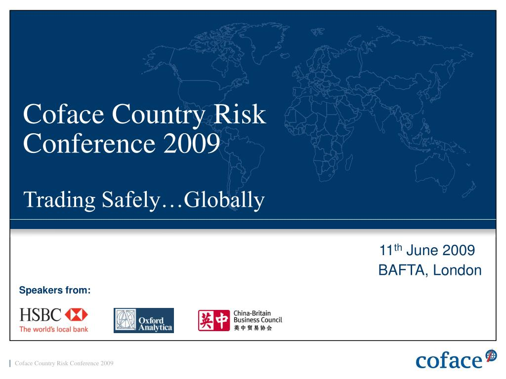 coface country risk conference 2009 trading safely globally l.