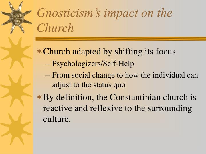 Gnosticism's impact on the Church