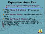 exploration never ends some of our explorers of the past 100 years