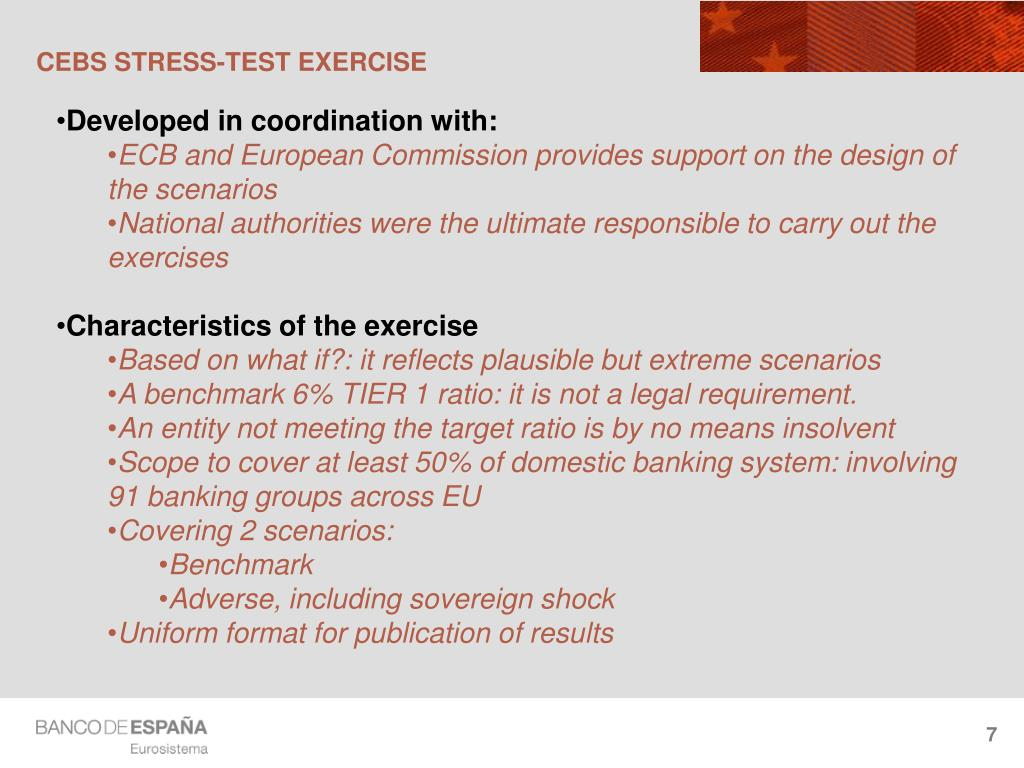 CEBS STRESS-TEST EXERCISE