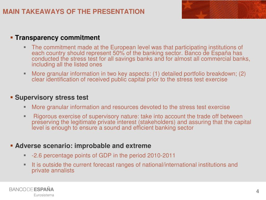 MAIN TAKEAWAYS OF THE PRESENTATION