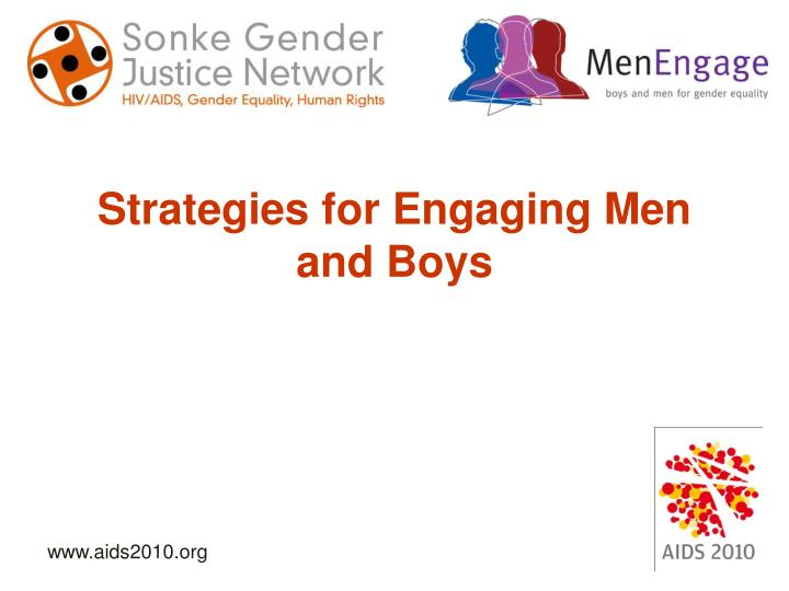 Strategies for Engaging Men and Boys
