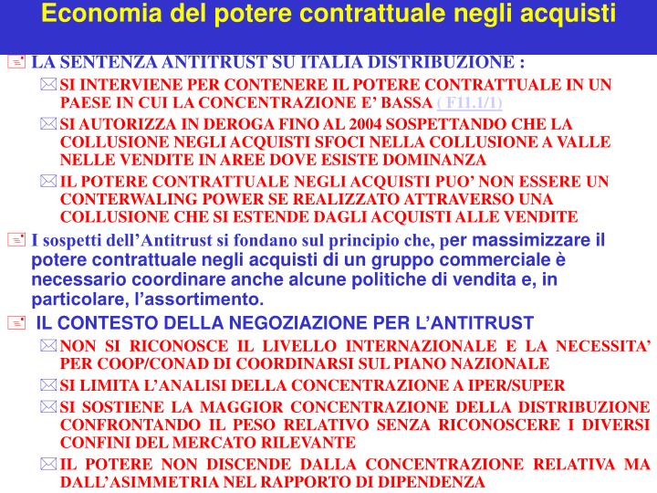 Economia del potere contrattuale negli acquisti1