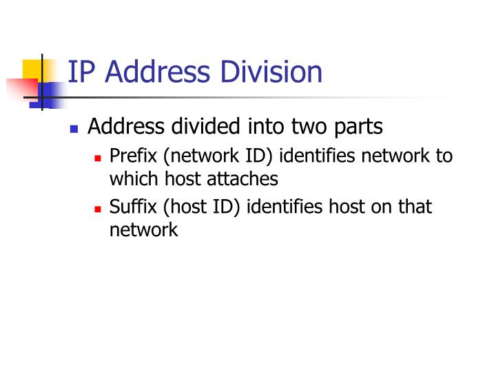 IP Address Division