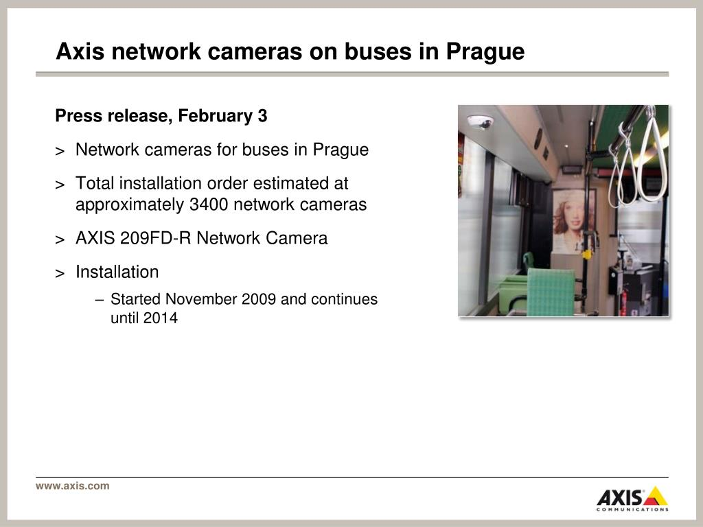 Axis network cameras on buses in Prague