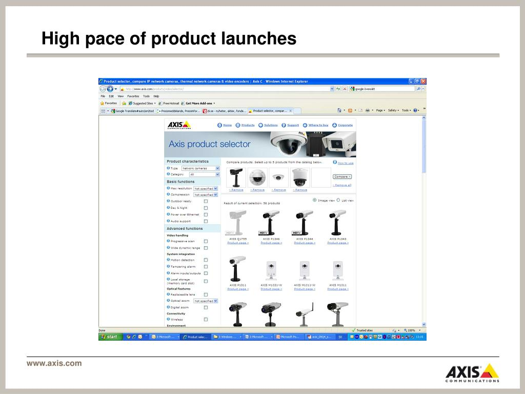High pace of product launches