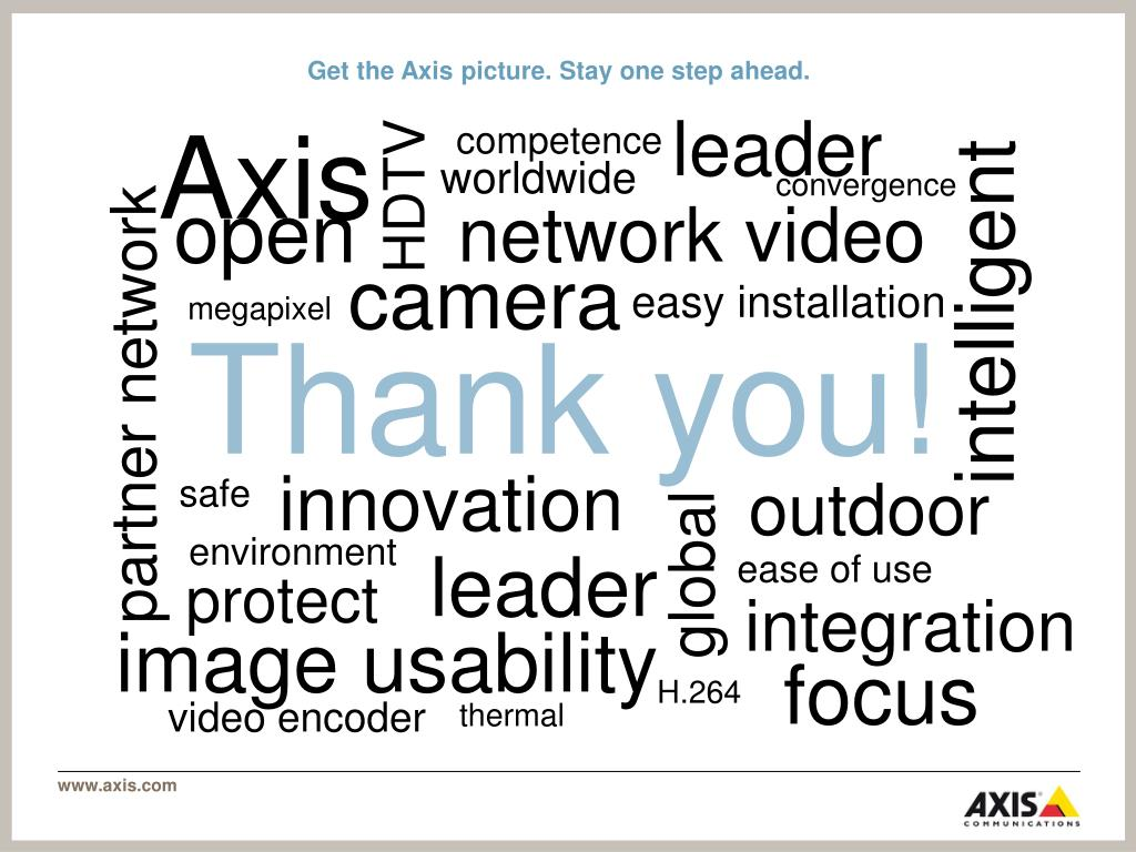 Get the Axis picture. Stay one step ahead.