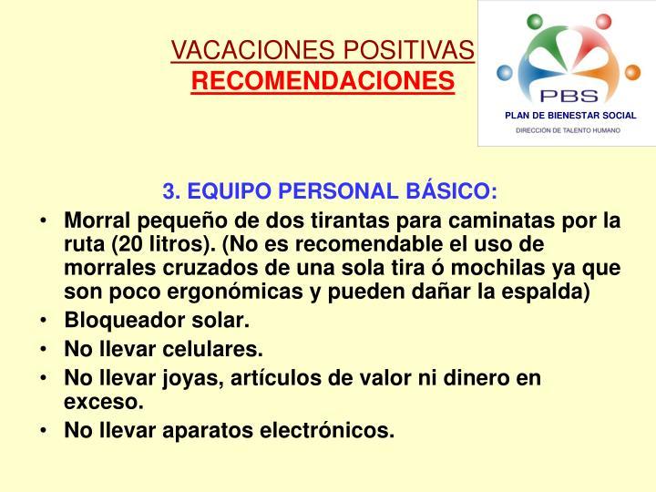 VACACIONES POSITIVAS