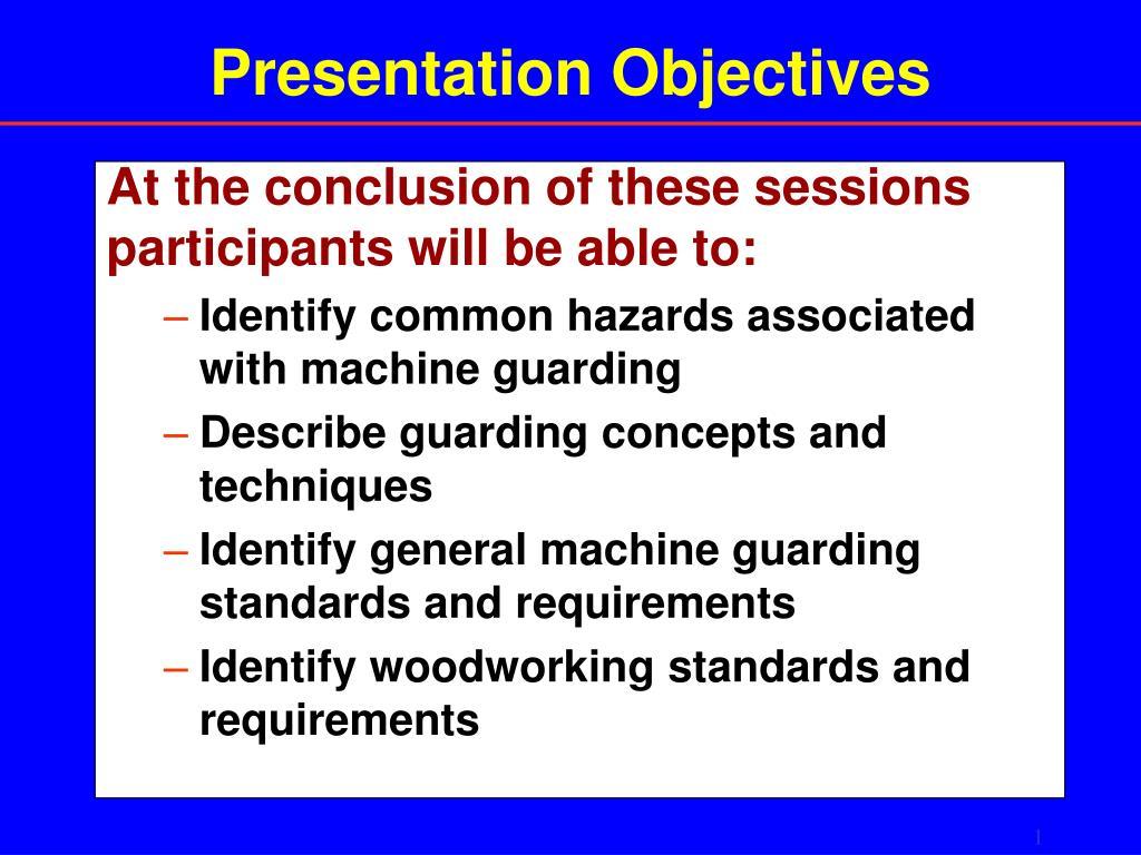presentation objectives l.