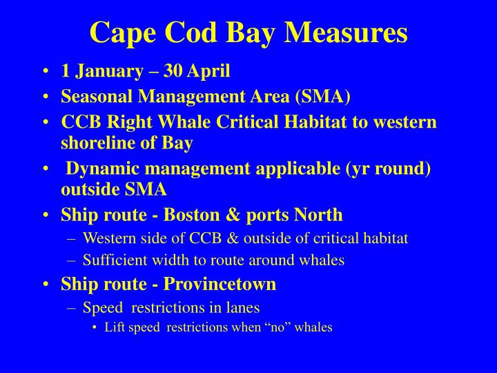 Cape Cod Bay Measures