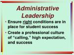 administrative leadership