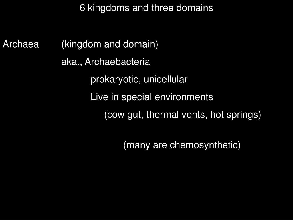 6 kingdoms and three domains