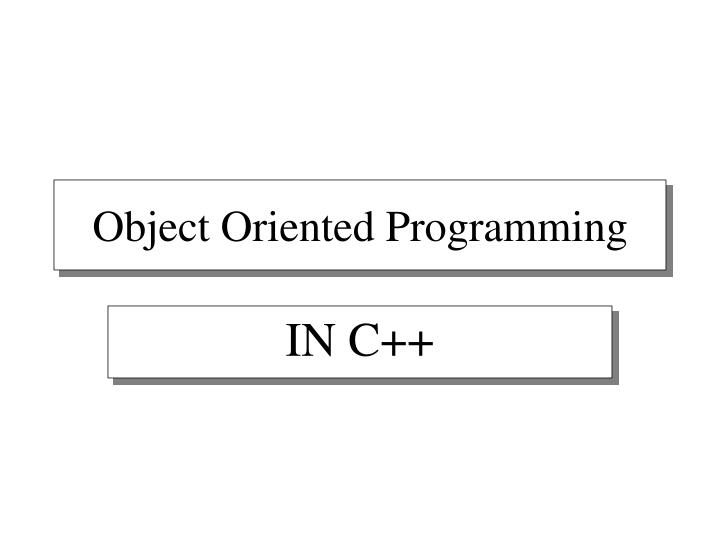 object oriented programming n.
