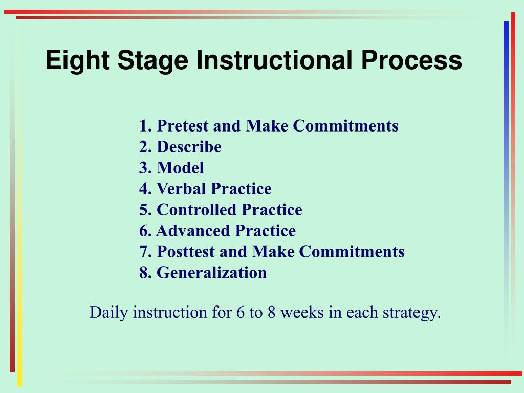 Eight Stage Instructional Process
