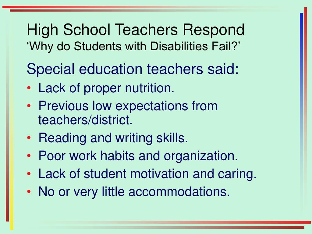 High School Teachers Respond