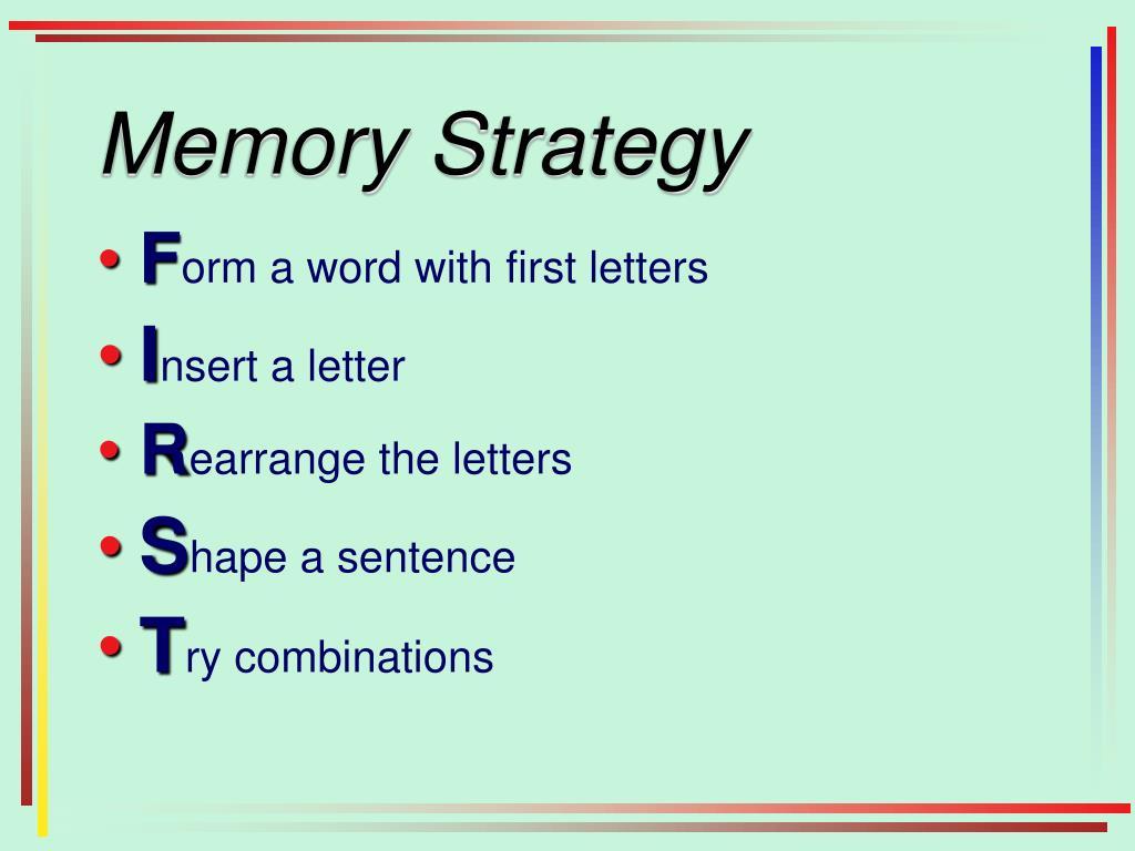 Memory Strategy
