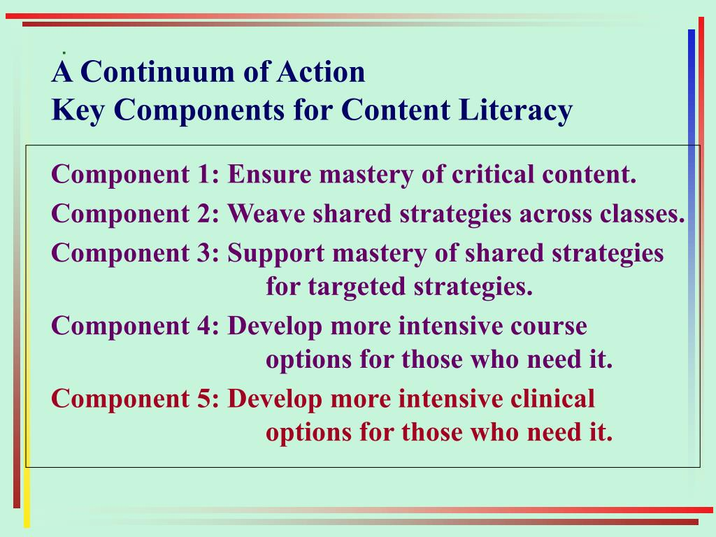 A Continuum of Action
