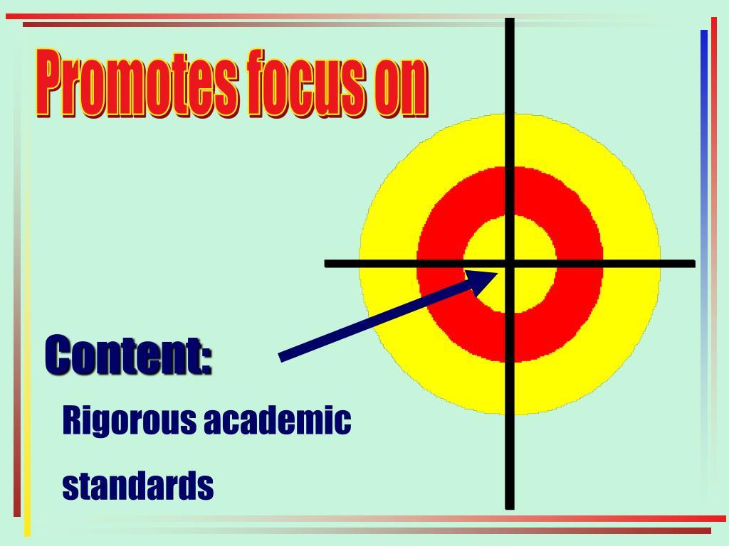 Promotes focus on