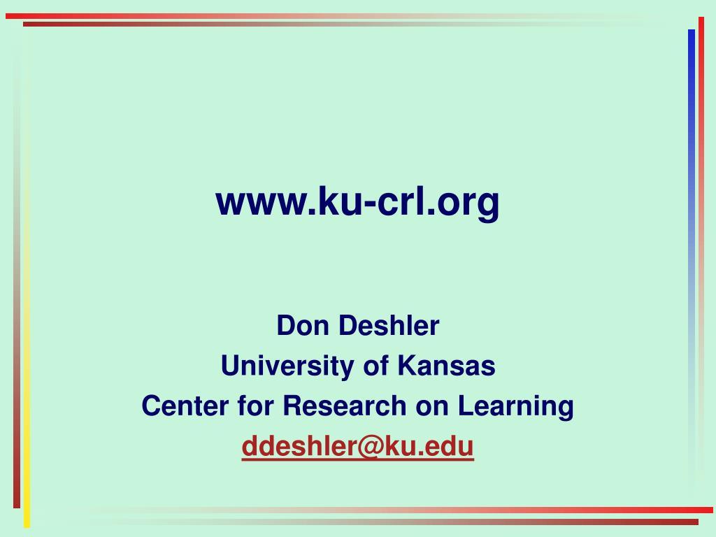 www.ku-crl.org