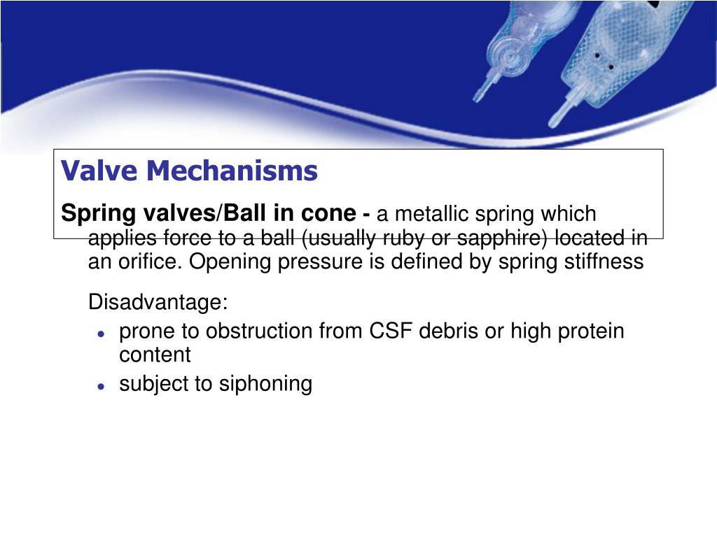 Valve Mechanisms