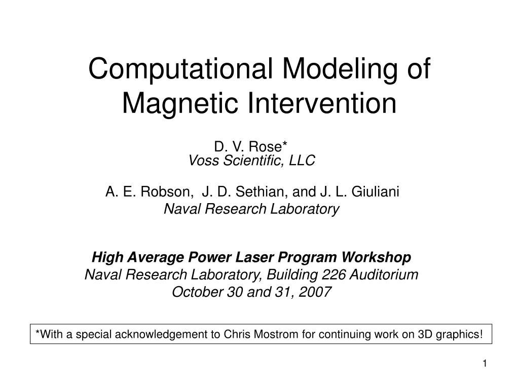 computational modeling of magnetic intervention l.