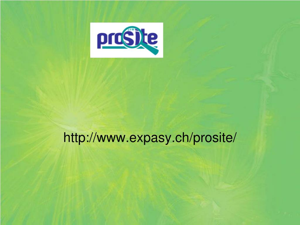 http://www.expasy.ch/prosite/