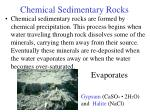 chemical sedimentary rocks46