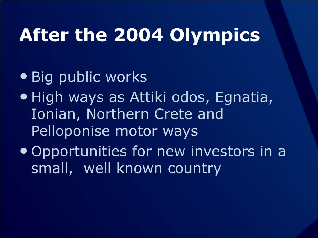 After the 2004 Olympics