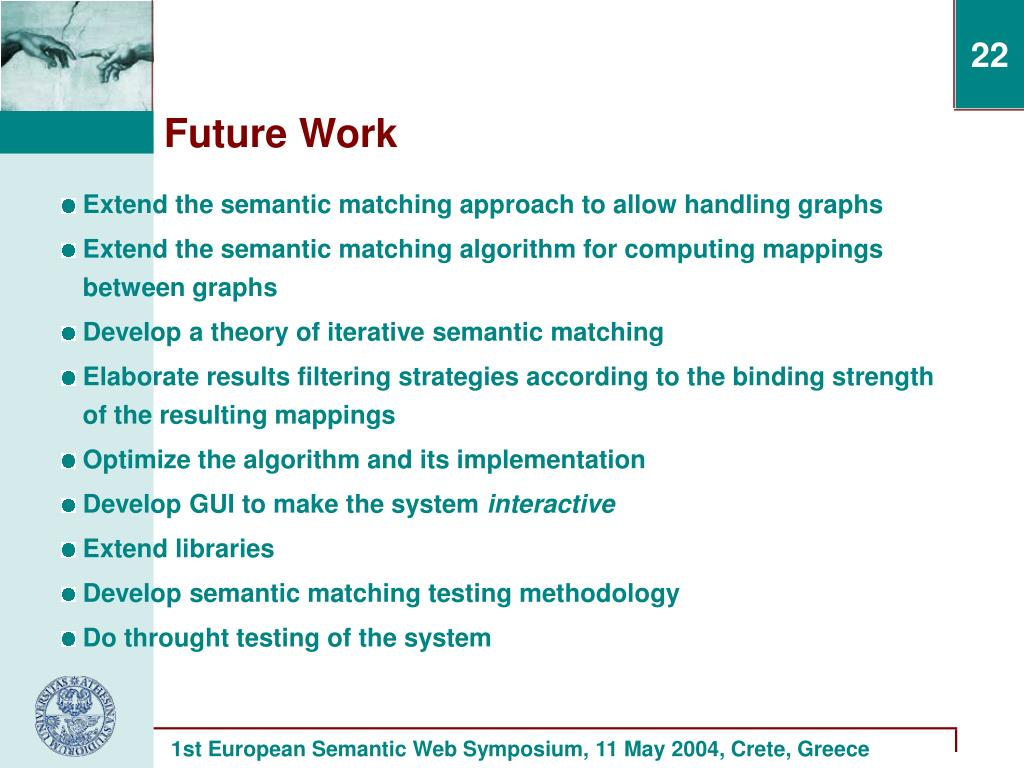 Extend the semantic matching approach to allow handling graphs