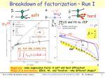 breakdown of factorization run i