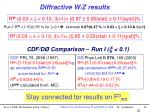 diffractive w z results