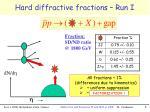 hard diffractive fractions run i