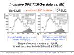 inclusive dpe w lrg p data vs mc