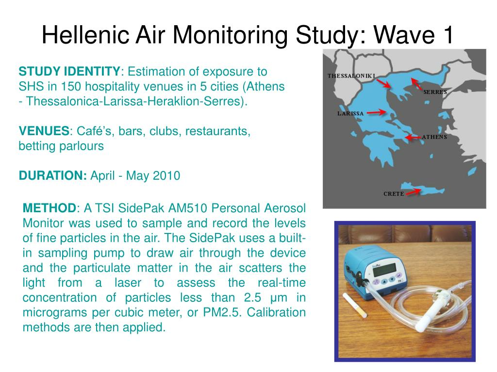 Hellenic Air Monitoring Study: Wave 1
