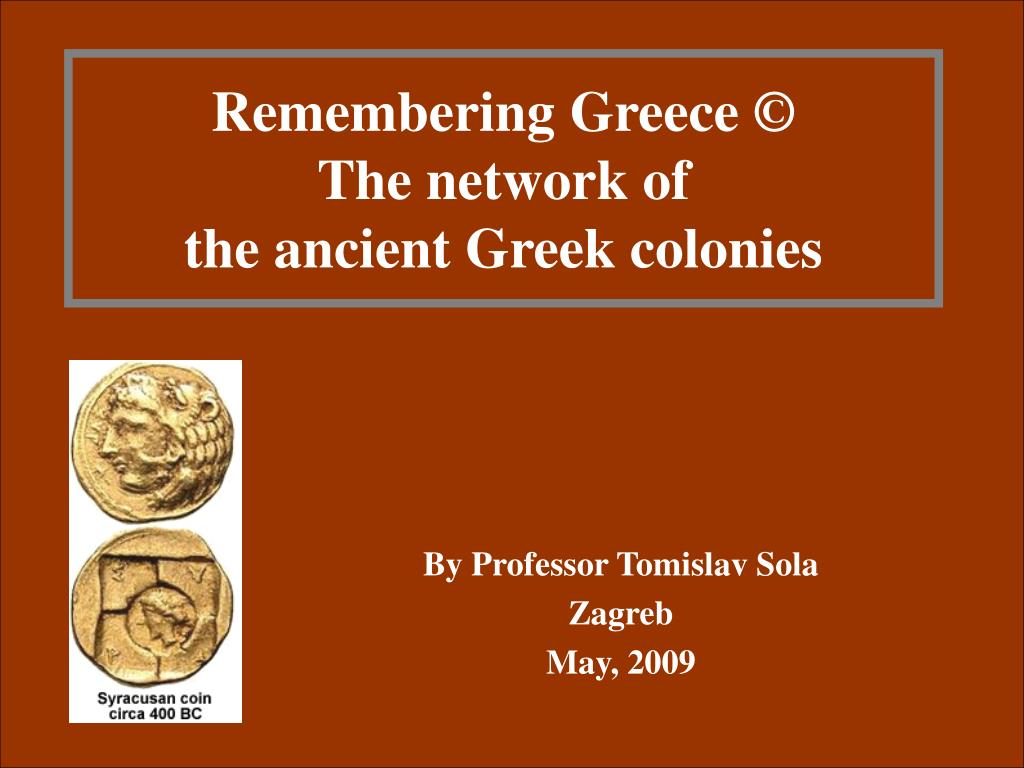 remembering greece the network of the ancient greek colonies